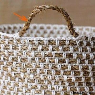 Красивая корзина из веревки 8 (400x400, 112Kb)