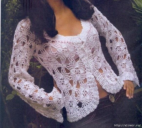 вязание молодежный свитер (582x522, 271Kb)