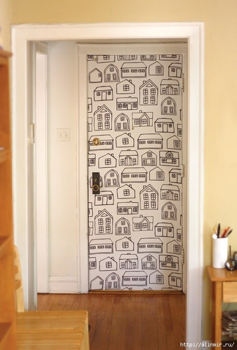 идея для двери интерьер (475x700, 218Kb)
