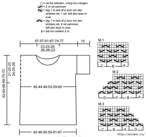 белая вязаная кофточка4 (583x549, 120Kb)