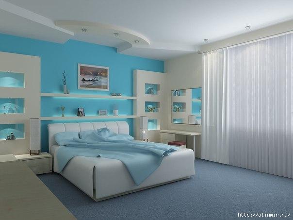 кровать постельное интерьер спальня (604x453, 103Kb)