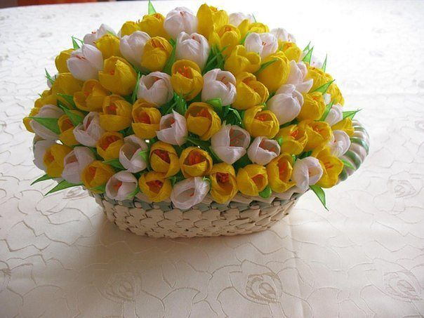 Корзина с тюльпанами (604x453, 223Kb)