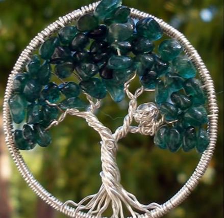 подвеска дерево зелёное (439x428, 472Kb)
