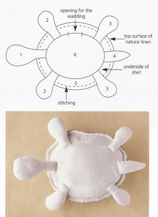 подушка черепашка выкройка4 (508x699, 233Kb)