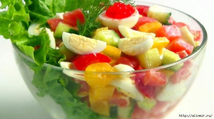 2 простых рецепта салатов для дорогих гостей