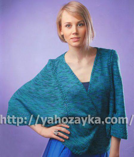 Shema_vyazaniya_melanjevogo_jaketa_s_shirokimi_rykavami (450x524, 156Kb)