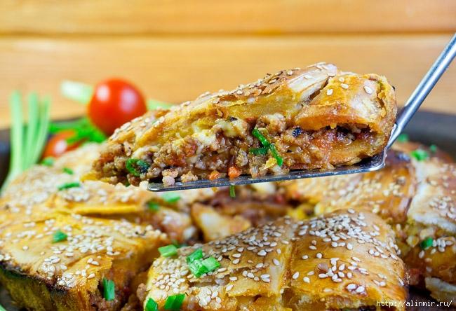 Креатопита - греческий пирог с мясом