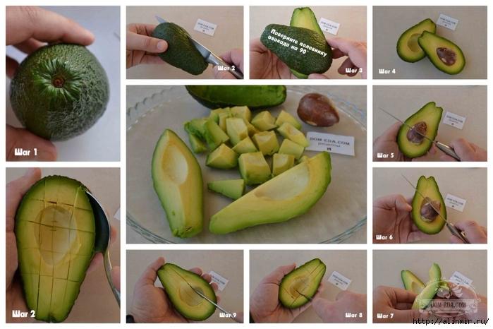 как почистить авокадо (700x466, 232Kb)