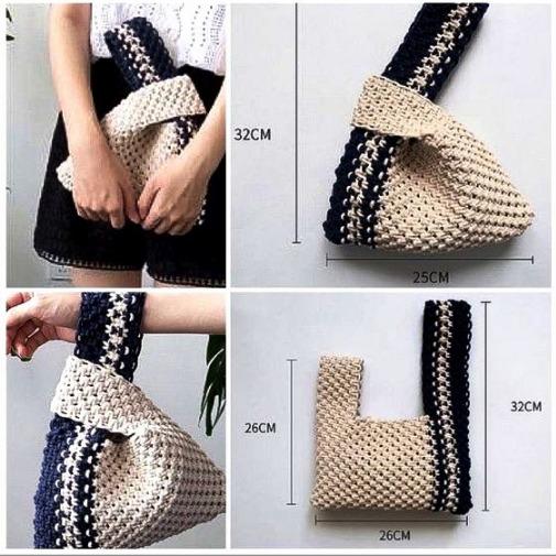 Оригинальная вязаная сумка (идея)
